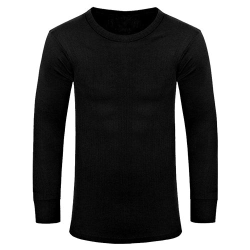 Warrior Black Long Sleeved Thermal Vest