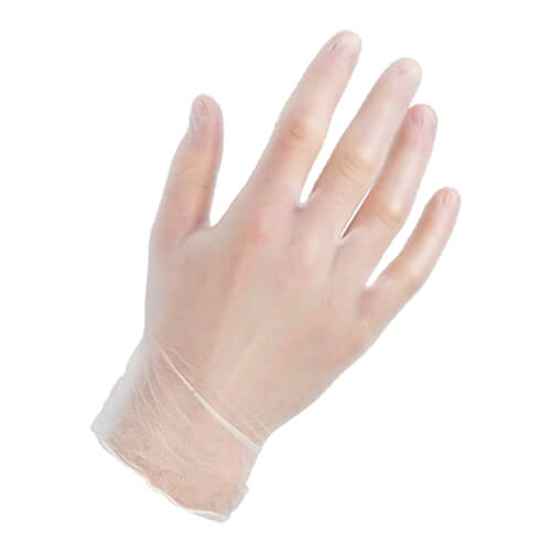 Warrior Clear Powder Free Vinyl Gloves - 1000 Box