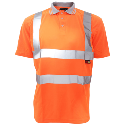 Warrior Hi Vis Orange Daytona Polo Shirt