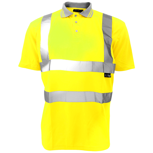 Warrior Hi Vis Yellow Daytona Polo Shirt