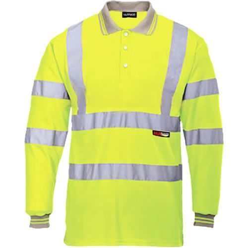 Warrior Hi Vis Yellow Orlando Polo Shirt