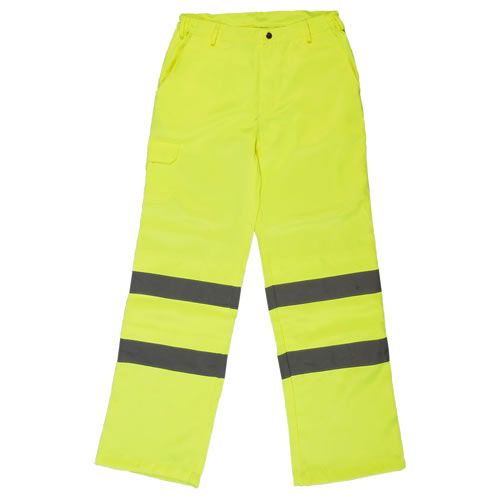 Warrior High Visibility Yellow Delray Trousers