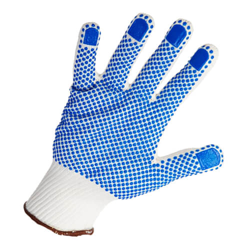 Warrior Knitted Dotted Gloves - 12 Pairs