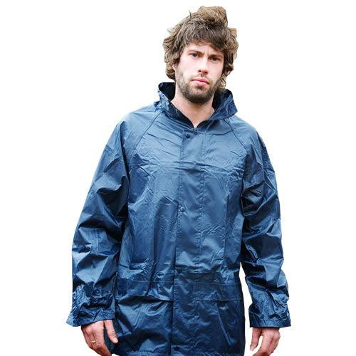 Warrior Navy Nylon PVC Jacket