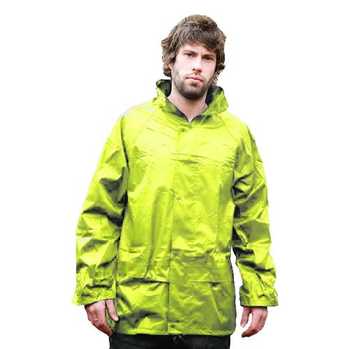 Warrior Yellow Nylon PVC Jacket